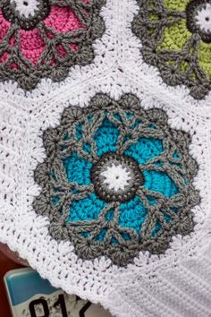 Just look at the motifs in this crochet afghan!