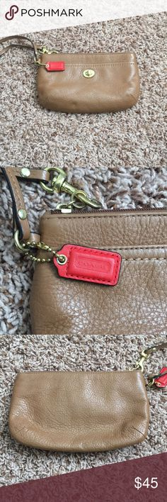 Cognac Coach Clutch Used several times, but in great condition Coach Bags Clutches & Wristlets