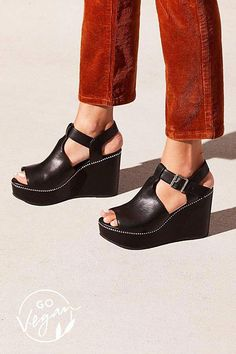 b8577f8a9 Cram footwear by using plug soles are sunny weather shoe specifics.   Blackwedgesoutfit Wedge Heels