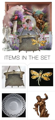 """Victorian Garden"" by pattysporcelainetc ❤ liked on Polyvore featuring art, vintage and country"