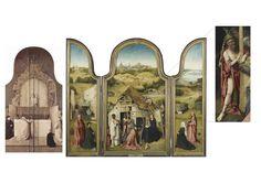 Tríptico de la Adoracion de los Reyes Magos. El Bosco. Tablas, reverso y El Anticristo **