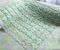 manta suave de motivos florales