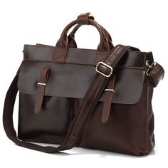 """Vintage+Handmade+Leather+Briefcase+/+Messenger+/+14""""+15""""+Laptop+or+15""""+MacBook+Pro+Bag  This+handmade+leather+bag+is+made+with+selected+materials.+The+properties+of+genuine+excellent+Vintage+tan+leather+and+Vintage+design+make+this+item+unique.+A+truly+one+of+a+kind+item.+ All+hand+stitched,+w..."""