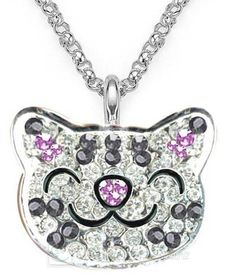 The Big Bang Theory Soft Kitty Crystal Necklace