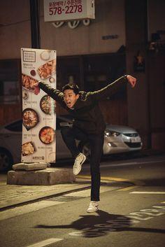 Hot-blooded police hopefuls Park Seo-joon and Kang Ha-neul in Midnight Runner Park Seo Joon Hwarang, Park Seo Jun, Seo Kang Joon, Park Hae Jin, Park Hyung Sik, Joon Hyung, Kang Haneul, Handsome Korean Actors, Song Joong