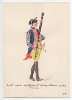 Hesse-Cassel Leib-Regiment of Infantry, Musician, in America 1776-1783 by H.Knotel