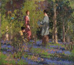 Picking Bluebells  George Henry (1858–1943) Scottish painter of the Glasgow School