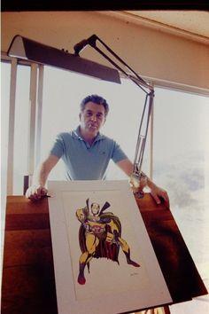 Mister Miracle and his Creator jack kirby Comic Book Artists, Comic Artist, Comic Books Art, Book Creator, The Creator, Frank Miller Comics, Dc Comics Superheroes, Marvel Comics, Marvel Heroes