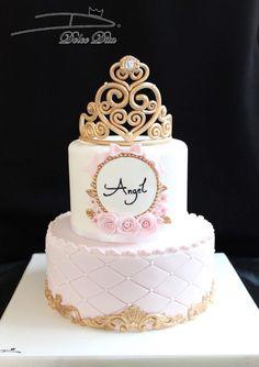 Baby Birthday Cakes, Beautiful Birthday Cakes, Beautiful Cakes, Baby Shower Princess, Princess Birthday, Bolo Minion, Quinceanera Cakes, Bolo Cake, Girl Birthday Decorations