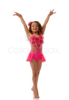 """Buy the royalty-free Stock image """"Little girl in the pink bathing suit lying on"""" online ✓ All image rights included ✓ High resolution picture for print,. Cute Little Girl Dresses, Cute Young Girl, Cute Little Girls, Girls Dresses, Dance Costumes Kids, Dance Costumes Lyrical, Girl Costumes, Halloween Costumes, Little Girl Bikini"""