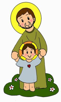 Mis ilustraciones: Oración a San José Catholic Crafts, Catholic Kids, Catholic Saints, San Jose Infantil, Class Decoration, Holy Family, St Joseph, Bible Stories, Doll Patterns