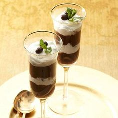 Layered Mocha Cappuccino Pudding Cups