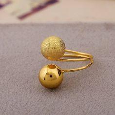 Minimalist Double Ball Ring
