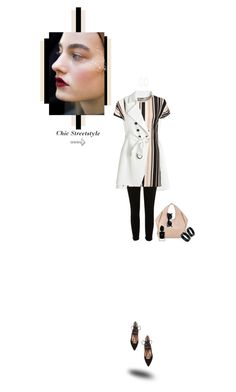 """Chic Street Style : Stripes Bangles & Flats!"" by prettynposh2 ❤ liked on Polyvore featuring White House Black Market, River Island, WearAll, Dorothy Perkins, Tom Ford, Aquazzura, Retrò, Lana, Giorgio Armani and chic"