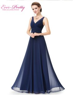 Evening Dresses Long Women Gown Vestidos Ever Pretty EP08877 2017 New Arrival V-Neck Summer Style Evening Dresses