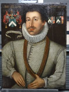 Sir Richard Cotton c 1570s (need to check painting date)  BIRTH: 1539 or 1540  PROPERTY: Built the Combermere manor house, incorporating the remains of the Abbey, from 1563  DIED: 1602