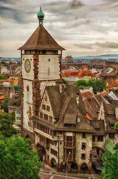 Freiburg, Germany...This time of year I yearn for Zwiebelkuchen, Federweisser, Kaesespaetzle and Feldsalat at Zaehringer Wappen.