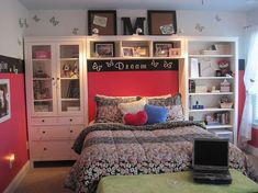headboard book shelves storage, I really want to do this.