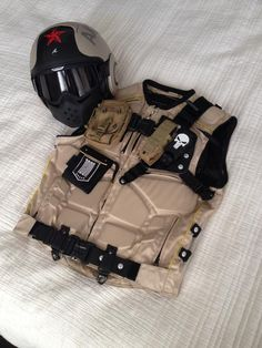 FS: Motorcycle Tactical vest & matching Shark Raw Helmet Combo
