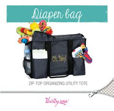 Lots of pockets for everything you need for your little one. WANT IT? BUY IT NOW at: www.mythirtyone.com/courtney