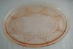 Antique Pink Depression Glass Mayfair Rose by ForeverCreative1, $15.00