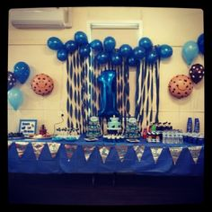My sons Cookie Monster themed party