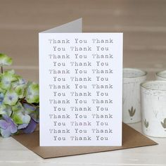 'thank you' greetings card by slice of pie designs | notonthehighstreet.com