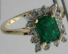 0.96ct Emerald-Cut Emerald Diamond 14K Gold Ring
