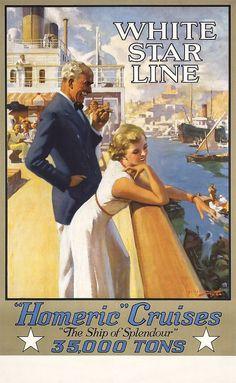 White Star Line. Homeric cruises.