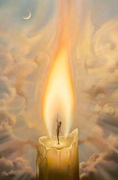 Candle Vladimir Kush  So incredibly beautiful in real life, the flame looks like…