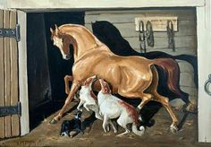 """""""In the stable"""" oil on canvas size Dog Lover Gifts, Dog Lovers, Russian Wolfhound, Horse Drawings, Vintage Horse, Equine Art, Horse Art, Animals Beautiful, Painting & Drawing"""