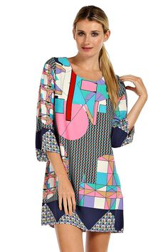 WHIMSICAL GEO SHIFT DRESS