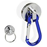 SUPER-Strong Neodymium Magnet Holds 35 Lbs! Carabiner Snap Hook & Split Ring