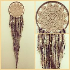 Beautiful Neutral Boho Chic Dreamcatcher by YourBohemianDreams
