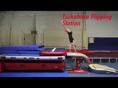 Tsukahara Flipping Station! This weeks Training Tip shows a unique way to work on a Tsukahara. Using a bouncy mat stack creates a great station for gymnasts to break down a Tsukahara so they can experience each part of the flip! Training Tip Tuesday! Every Tuesday we will put up a training tip to show basic techniques to more complex skill progressions! Visit our channel every Tuesday to watch a new Training Tip! www.youtube.com/tumbltrak