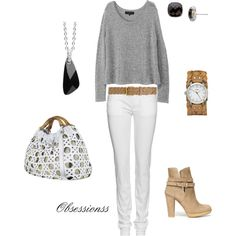 I love how relaxed this is without looking messy!  Very comfortable and chic!