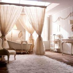freistehende Badewanne-Schlafzimmer Interieur | Bath and wellness ...