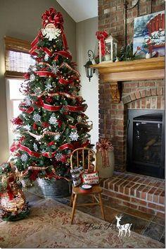 farmhousechristmas - Love the bucket idea to hold the tree.
