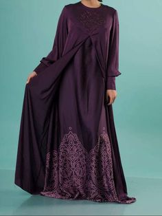 Valencia from Elitar is a fantastic garment, suitable for warm days. It's soft fabric ensure great comfort and solution for hot days! Fabric: Silk Size: M Color: Purple M Color, Round Collar, Valencia, Soft Fabrics, Cover Up, Silk, Purple, Dresses, Fashion