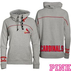 St. Louis Cardinals Victoria's Secret PINK® Cowl Neck Pullover Hoodie - MLB.com Shop