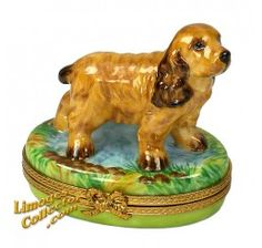 Browse our large selection of Limoges boxes, including Vintage, Animal, Holiday and other Limoges boxes. Our extensive selection of hand-painted Limoges boxes feature over various styles of Limoges boxes in every imaginable theme and style. Cocker Spaniel Dog, Spaniel Puppies, Jewelry Dresser, Dog Table, Cool Artwork, Amazing Artwork, Dog Runs, Tiny Treasures, China Painting