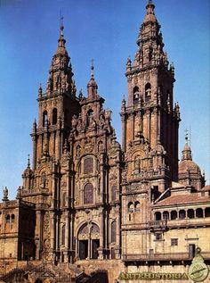CASAS Y NOVOA. 1738. Catedral de Santiago de Compostela. Fachada.
