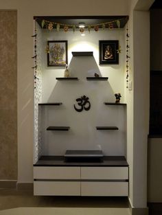 Here you will find photos of interior design ideas. Get inspired! decoration ideas for pooja Colonial style corridor, hallway& stairs by homify colonial Pooja Room Door Design, Room Interior Design, Home Room Design, Bed Design, Indian Interior Design, Luxury Interior, Colonial Style, Temple Room, Temple Design For Home