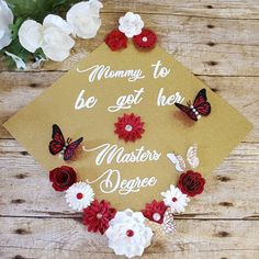 Mommy to be graduation cap topper
