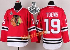Only  34.88 please email me at maryjerseyelway gmail.com for Blackhawks 19  Jonathan Toews Red 2015 Stanley Cup Stitched NHL Jersey 4288b6af7
