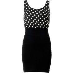 Polka Dot Print Vest Dress