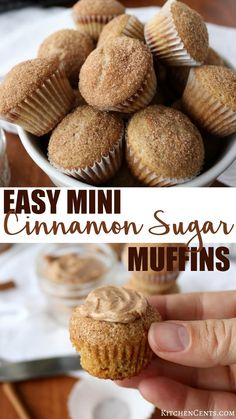 Do you need a quick delicious breakfast ready in 15 minutes? These EASY mini cinnamon muffins are the perfect quick breakfast for those busy mornings. With only 15 minutes, you can whip up AND bake a batch of these delicious moist muffins. These are a family favorite. Kids love these muffins and adults do too. These mini muffins are so easy and quick to make. You probably already have all the ingredients for these quick mini cinnamon muffins in your pantry.