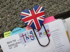 Jumbo Paperclip  Union Jack / Great Britain Heart