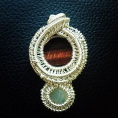 Red tigers eye and topaz.