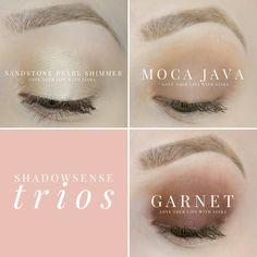 ShadowSense Trio: Sandstone Pearl Shimmer, Moca Java, Garnet https://www.facebook.com/groups/330195810714004/